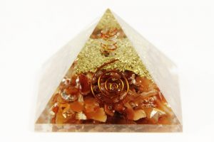 Crystal Dreams Orgonite Pyramid - Carnelian