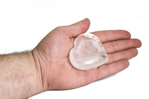 Clear Quartz Puffy eart