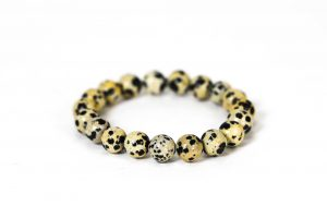 Dalmatian Jasper Bracelet ( 10 mm or 8 mm) (Copy) 2