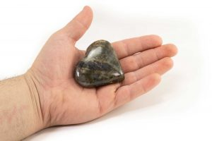 Labradorite Puffy Heart 1