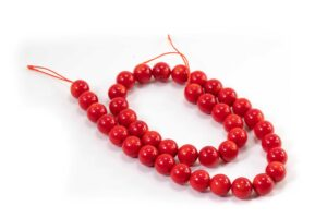 Red Coral Beads (10mm or 8mm)